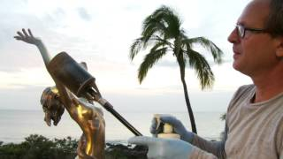 "Patina of bronze sculpture ""Freedom"" By Sculptor Dale Zarrella"