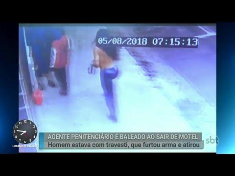 Agente penitenciário é baleado por travesti ao sair de motel | Primeiro Impacto (06/08/18)