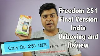 hindi   freedom 251 final version india unboxing review pros cons   gadgets to use