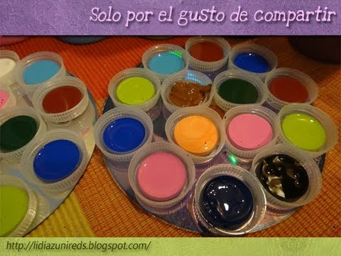 Diy paletas para la pintura rrr how to recycle - Paleta de pinturas ...