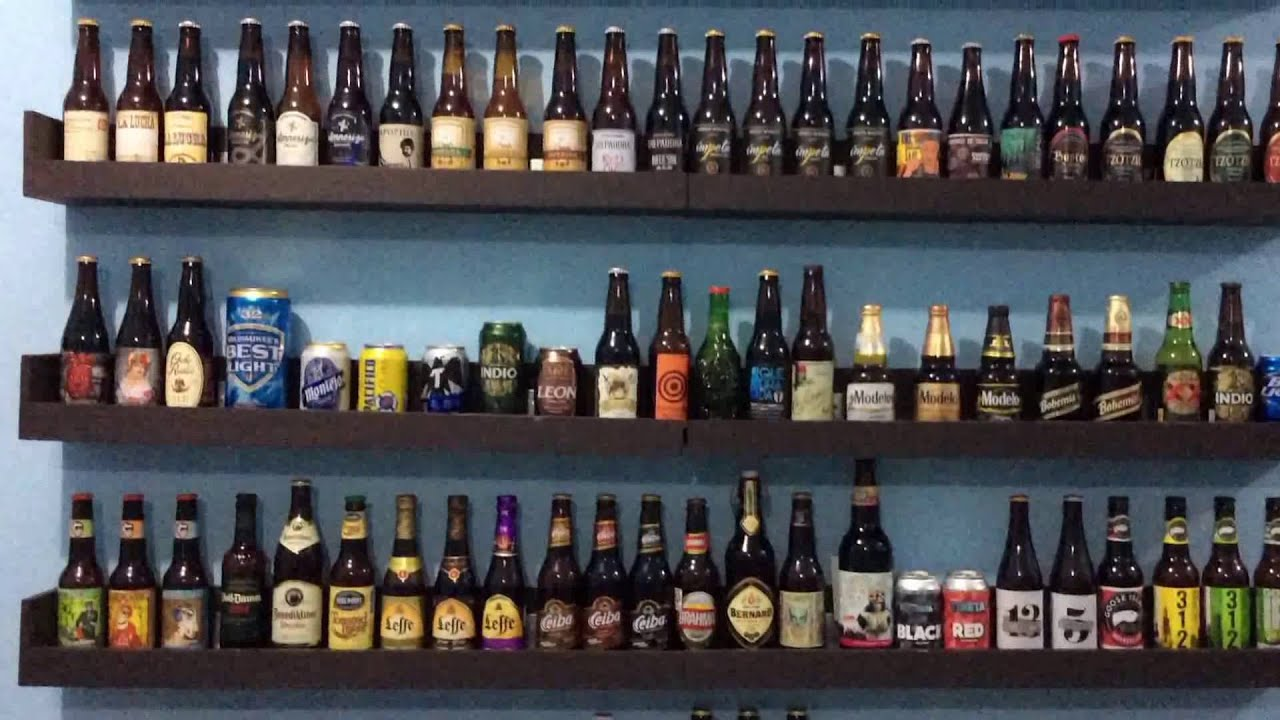 Como hacer una repisa para la coleccion de mis cervezas - Estanterias para bares ...