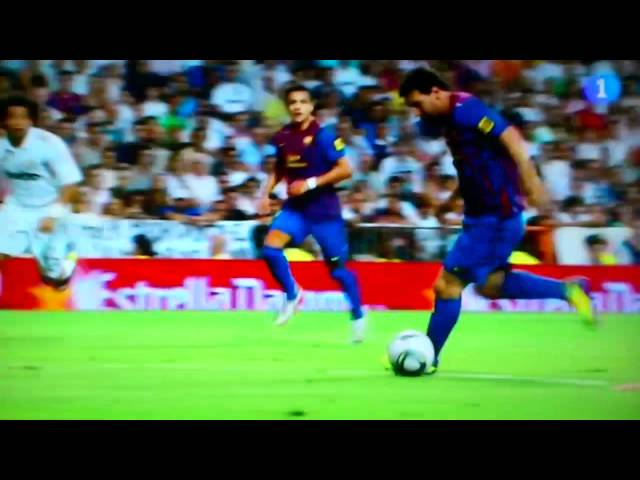 Madrid 1 Barcelona 2 Gol de Messi supercopa España Videos De Viajes