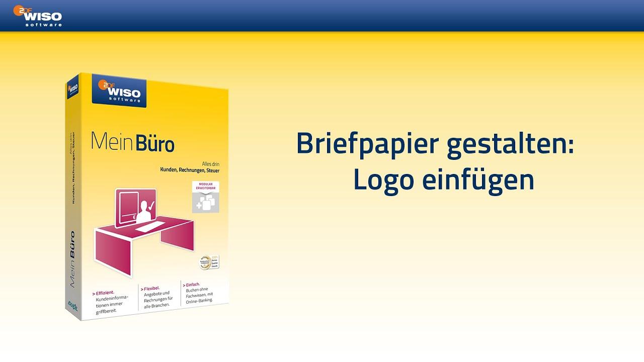 Briefpapier Gestalten : Briefpapier gestalten logo einfügen youtube