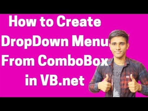 #29 How to Create DropDown Menu From ComboBox in VB.net | Shubham Jangid