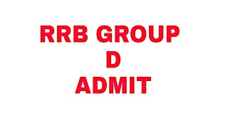 RRB GROUP D ADMIT NOTICE ANNOUNCED OFFICIALLY    RRB KOLKATA