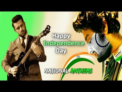 National Anthems - Live | Pakistan(Atif Aslam) & India(Arijit Singh)