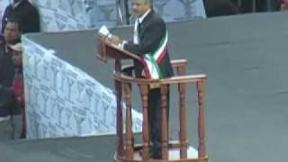 Protesta AMLO como 'presidente legítimo'