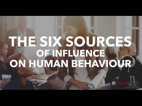 The Six Sources of Influence on Human Behaviour