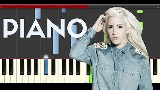 Ellie Goulding Lost And Found Piano Midi Tutorial Sheet Paritura Cover Karaoke