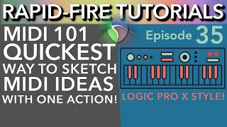 MIDI Hacks: Quickly Sketching Ideas in a MIDI Track (Rapid-Fire Reaper Tutorials Ep35)