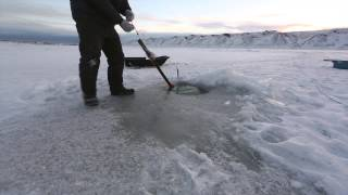 Ice Fishing on the Coppermine River