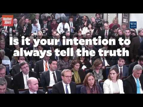 Sean Spicer Was Asked if He Intends to Always Tell the Truth