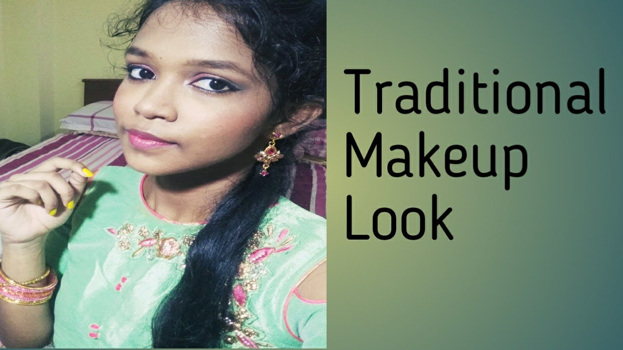 Traditional makeup look in Tamil