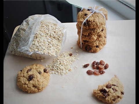 Eggless Easy To Make Oats And Raisin Cookies