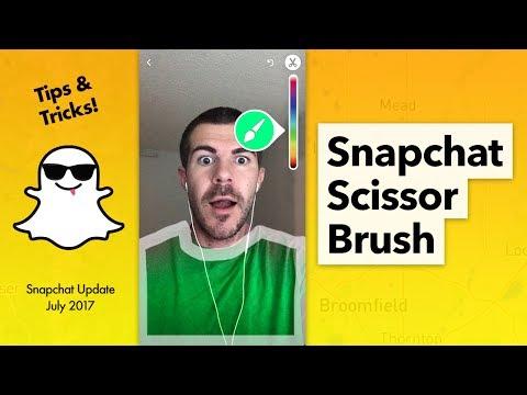How to Use Snapchat Scissor Brush Tool - Update 10 13 0 0
