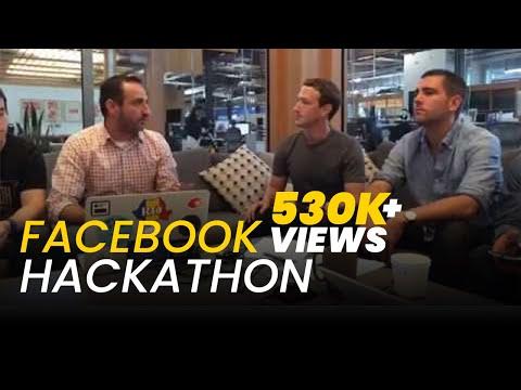 Facebook Hackathon; Mark Zuckerberg showing what his team has built
