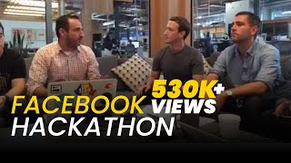 Facebook Hackathon; Mark Zuckerberg showing what his team has built