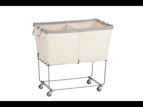 Modern Minimalist Laundry Cart On Wheels Design
