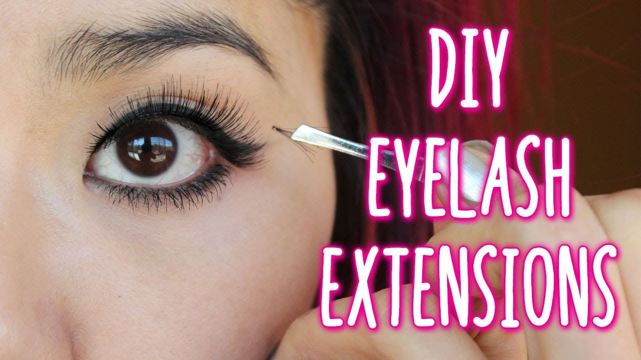 How To Apply Individual Lashes Diy Eyelash Extensions Youtube
