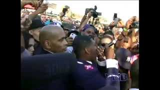 """Jay Electronica """"Exhibit C"""" Live at BKHipHopFest 2014 in the crowd"""
