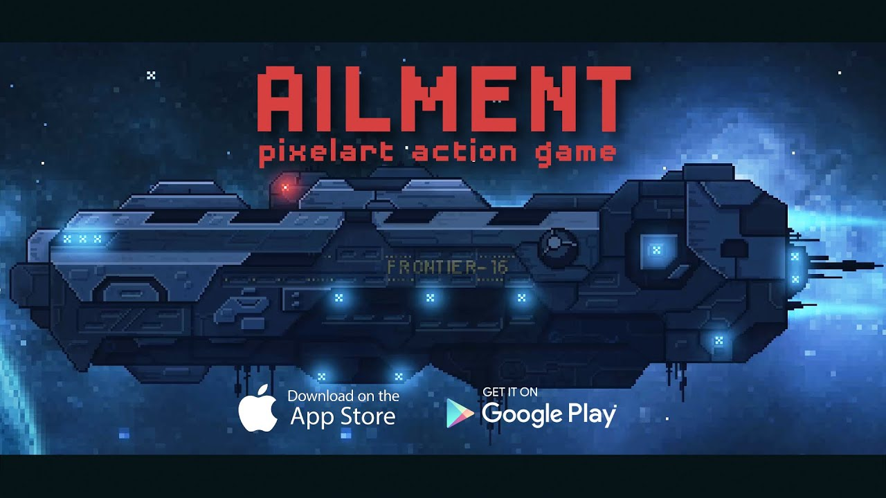 Ailment is a creepy top-down shooter featuring beautiful pixel art