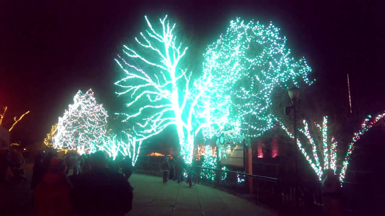 Toledo zoo sychronized Christmas lights 2014 - YouTube