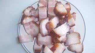Солим и коптим сало(20 кг свиное сало, рёбра Рассол 5 л воды 20 ст.л соли 5-6шт лавровый лист перец чёрный перец красный перец чили..., 2015-05-20T00:30:08.000Z)