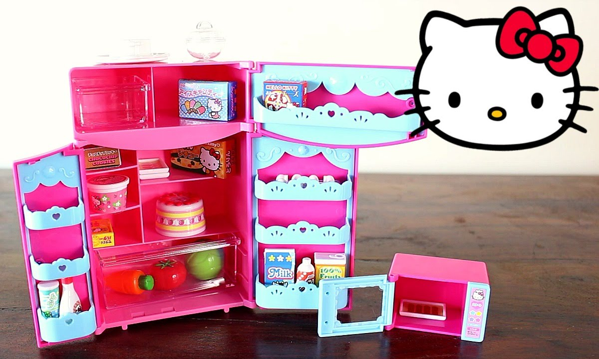 Kidkraft Minnie Mouse Küche Hello Kitty Kitchen Refrigerator And Microwave Playset