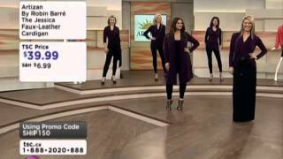 Artizan by Robin Barre The Jessica Pleather Convertible Cardigan on Shopping Channel Thumbnail