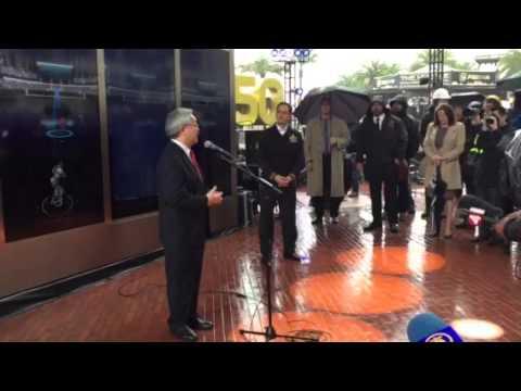 Daniel Lurie, SF Mayor Ed Lee At Super Bowl City #SB50 - Zennie62