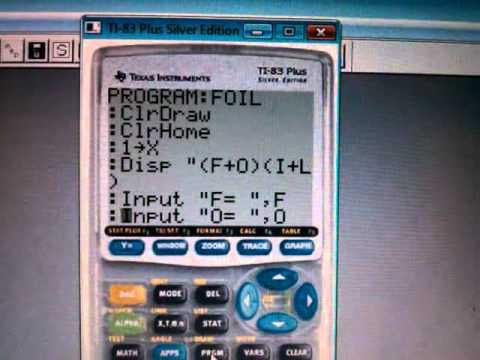 Algebra - FOIL program code - YouTube