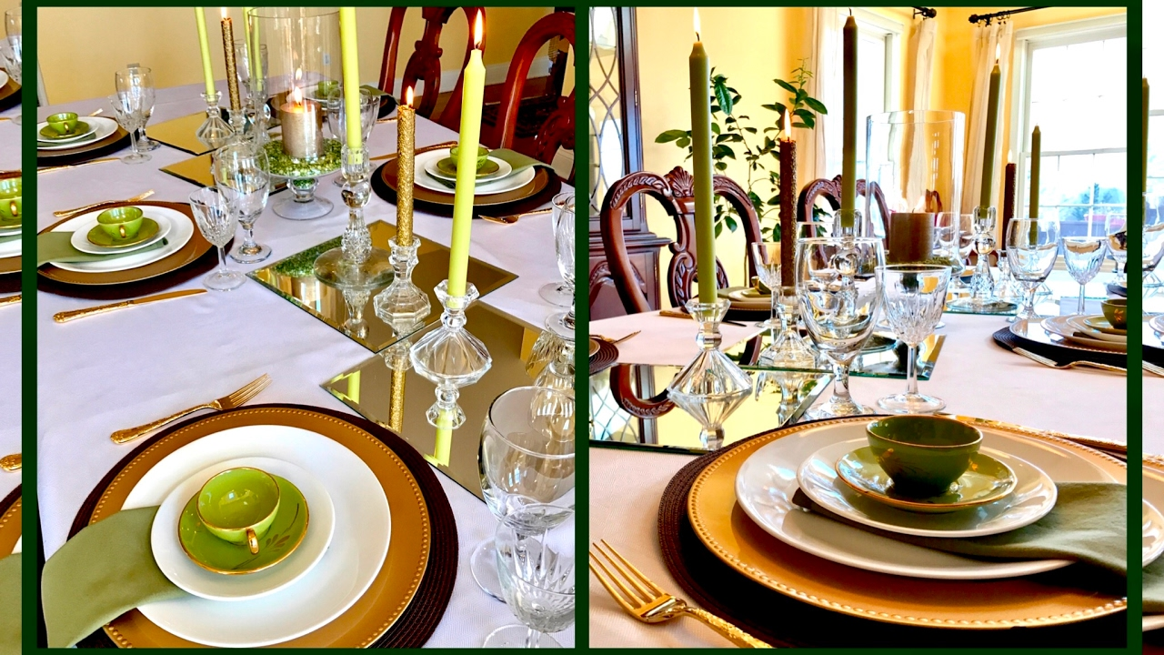 Spring Brunch St Patricks Day Easter Tablescape Table Setting : table setting for brunch - pezcame.com