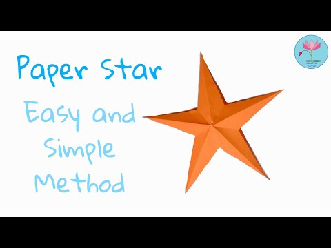 PAPER STAR | DIY | EASY AND SIMPLE METHOD P
