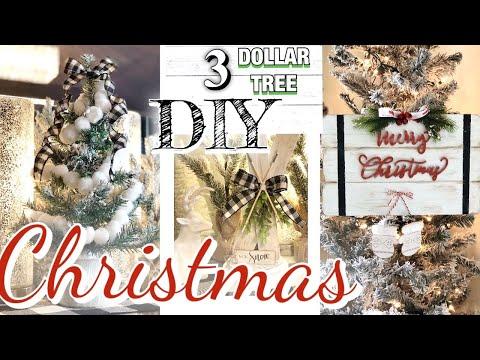 DIY DOLLAR TREE FARMHOUSE CHRISTMAS DECOR |RUSTIC FARMHOUSE CHRISTMAS TREND 2019 DIY dollar store