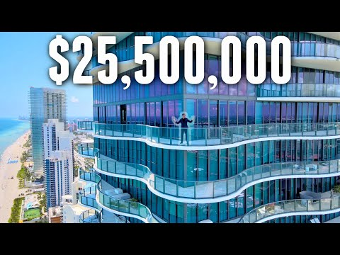 INSIDE The $25,500,000 Most LUXURIOUS Miami Triplex Oceanfront Penthouse