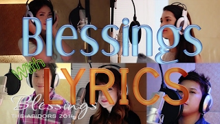 Video Blessings - The AsidorS | With Lyrics on Screen download MP3, 3GP, MP4, WEBM, AVI, FLV Agustus 2018