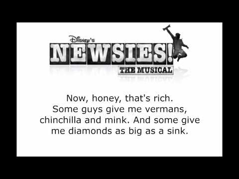 Newsies - That's Rich Lyrics