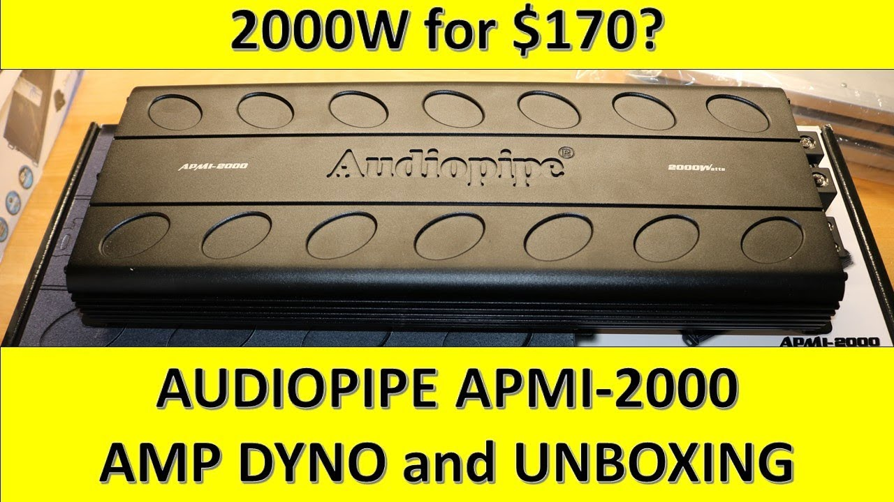 2000W RMS for $170? Audiopipe APMI-2000 Amp Dyno & Unboxing