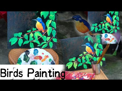 #birdspainting#landscape#dhuncreation  Bird's painting tutorial.