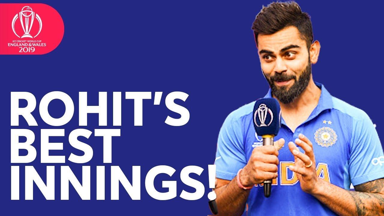 """By Far Rohit's Best Innings In ODIs"" | India Captain Virat Kohli | ICC Cricket World"