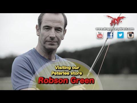 Robson Green And Roger Surgay At Dragon Carp Direct's Peterlee Store