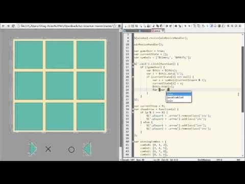 超入門 JavaScript 教學 15.4 - 遊戲專題(圈圈叉叉)