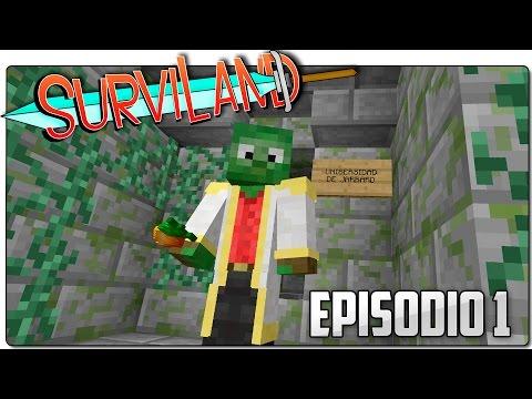 SURVILAND   Minecraft Serie Survival Ep 1   El templo de Manu
