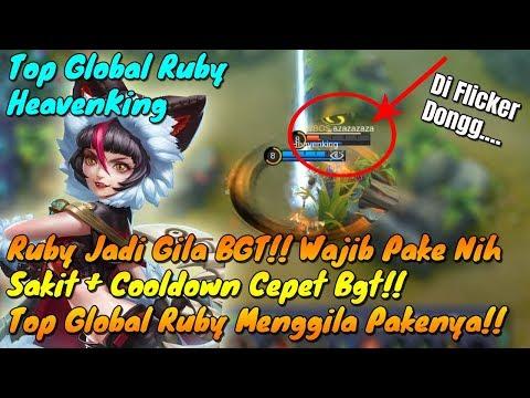 Ketika Top Ruby Menggila !! Ruby Jadi Enak BGT! Cooldown Cepet Sakit Damagenya!! Mobile Legends