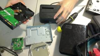 Recover Data HHD hard drive from broken external Western Digital mybook enclosure repair solution