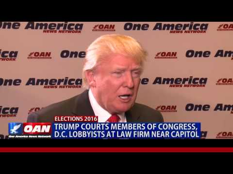 Trump Courts Members of Congress, D.C. Lobbyists at Law Firm Near Capitol