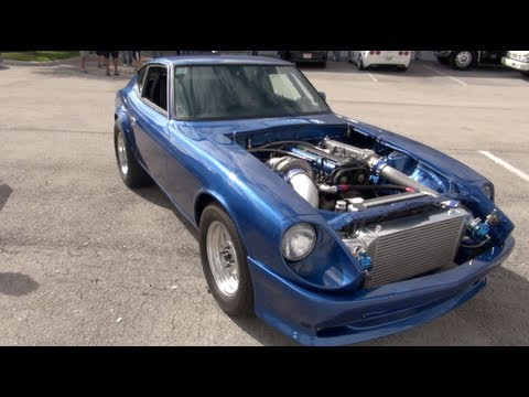 2JZ Powered Datsun 280z battles 830whp Evo IX plus bonus ...