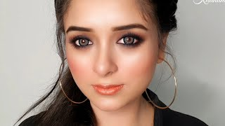 "Smudge Proof ""KAJAL"" Look for School/College Going Girls, Easy Makeup With Affordable Products"