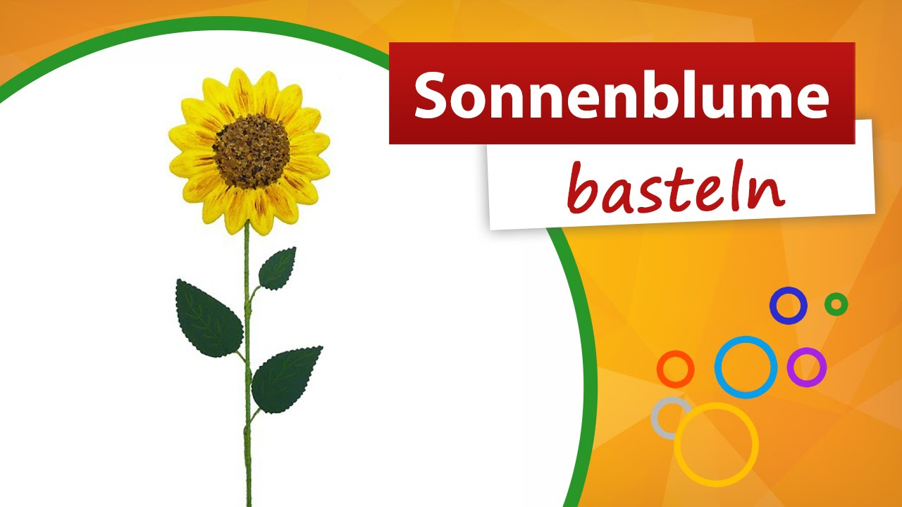 sonnenblume basteln aus styropor trendmarkt24 bastelideen sommer youtube. Black Bedroom Furniture Sets. Home Design Ideas