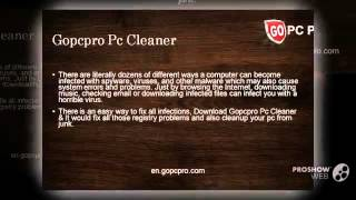 Download the best Gopcpro registry cleaner